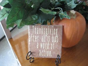 Thanksgiving Tile Decor