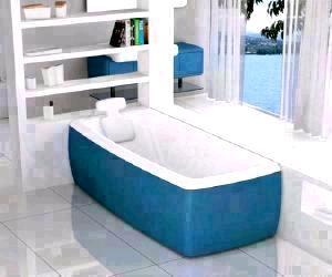 Blue Colored Bathtub