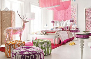 Pink Bedroom for Stylish Girls