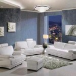 Sheraton White Leather Sofa Set