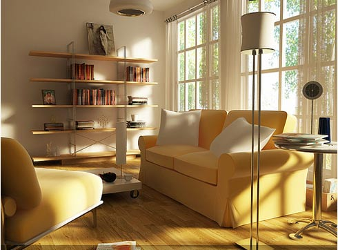 7 Yellow Modern Sofa