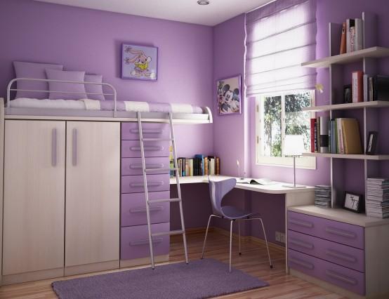 Cool Purple Teen Bedroom