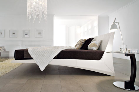 Cool White Italian Bed