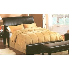 Dark Brown Faux Leather Queen Size Bed Dark Brown Faux Leather Queen Bed