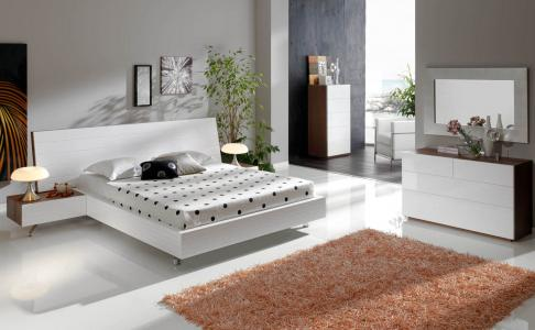 London Contemporary Lacquer Bed Contemporary White Lacquer Bed