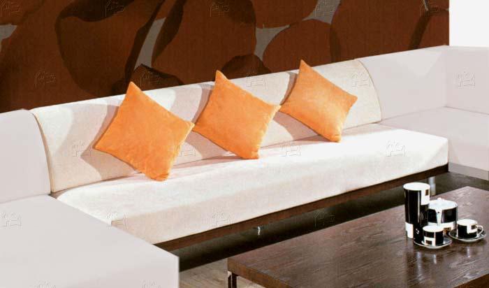 Modern Microfiber Armless Sofa
