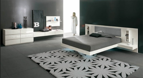 Modern White Floatting Bed Modern White Floating Bed