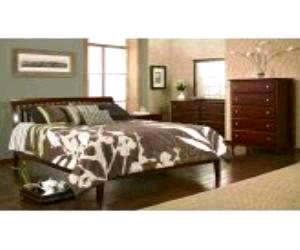 Newport Cordovan Platform Bed Set