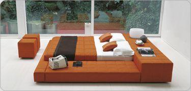 Orange Modern Bed