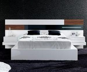 Platform Bed in White