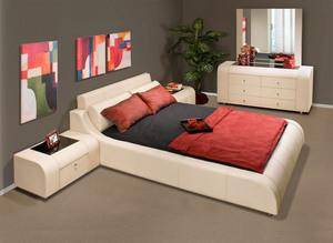Prima Leather bedroom Set Prima Leather Bedroom Set