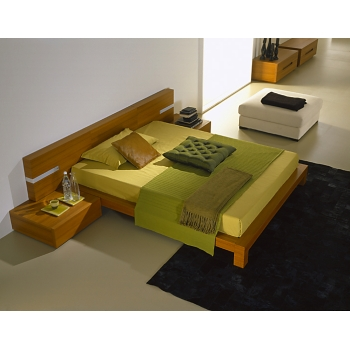 Queen  Platform Bed inTeak Finish