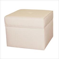 Storage Cube Ottoman in White Storage Cube Ottoman in White