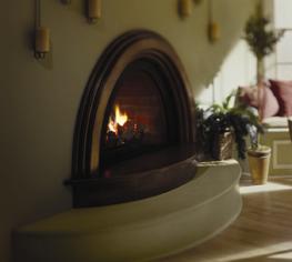 Stylish Gas Fireplace