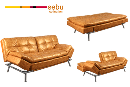 Upholstered Futon Sofa