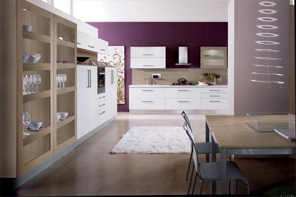 White Contemporary Life style Kitchen White Contemporary Life Style Kitchen