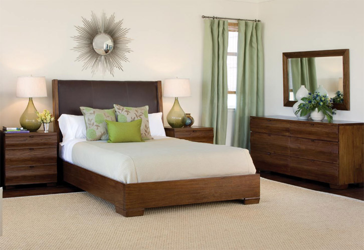 Brownstone Wood Bedroom Set