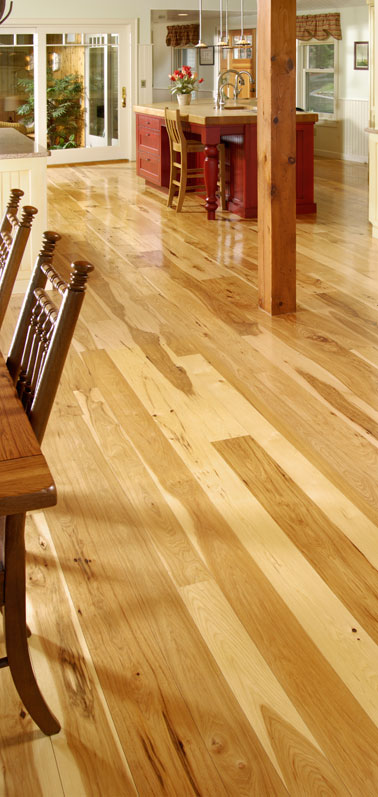 Wide Hickory Flooring