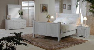 White Classic Platform Bedroom