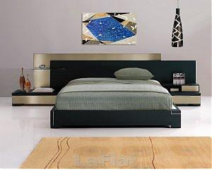 b 012 med Grey Modern Platform Bed