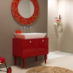 Vintage Red Bathroom Vanity