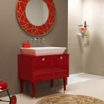 Vintage Red Bathroom Vanity