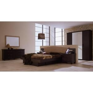 bed7 Brown Modern Platform Bedroom