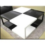 Modern White and Black Coffee Table
