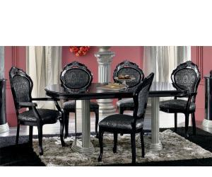 dining set Barocco Black Traditional Dining Set
