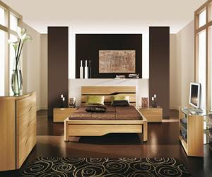Elegant Wood Bedroom
