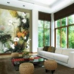 Low Furniture with Full Height Paintings