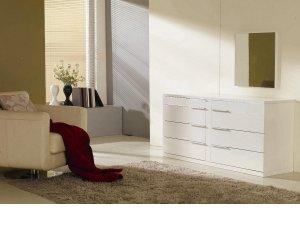 Modern White Lacquer  Bedroom Set