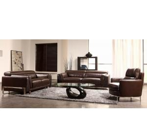 sofa8 Espresso Crocodile Leather Sofa Set