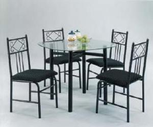 black finish table set Black Finish Table Set