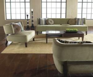 Contemporary Sofa and Loveseat