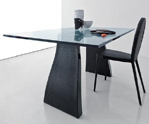 dining table1 Crocodile Leather Dining Set