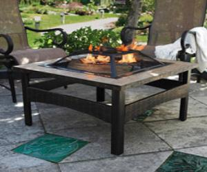 24'' Square Tile Firepit