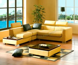 Leather Contemporary Sectional Sofa