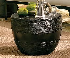 Metal Drum Accent Table