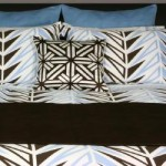 Modern Brown and Blue Bedding Set