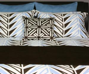 modern brown and blue bedding set Modern Brown and Blue Bedding Set