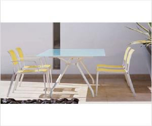 open glass and aluminum patio dining set Open Glass and Aluminum Patio Dining Set