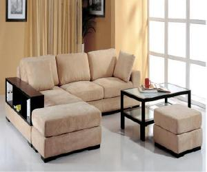 Telus Sectional Sofa with Bookcase