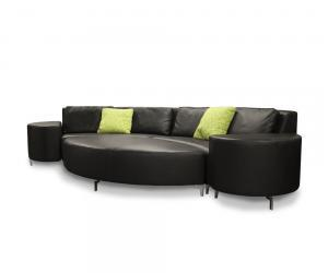 Front Row Leather Sofa
