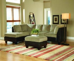 Two  tone Sectional Sofa Set