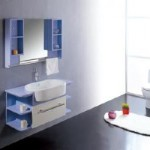 White and Blue Vanity Set