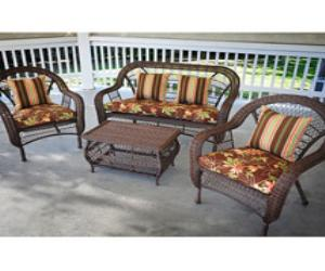 Wicker Casual Patio Set