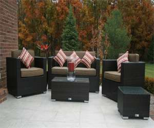 wicker deep seating set Wicker Deep Seating Set
