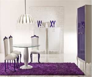amazing purpal dining room Amazing Purple Dining Room