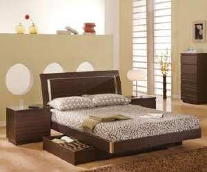 bed1 Modern Wenge Bed